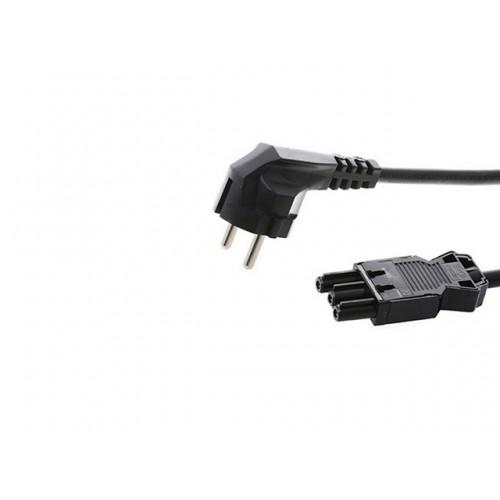 Stroomkabel 1.5m NL zwart zwart met GST18® aansluiting