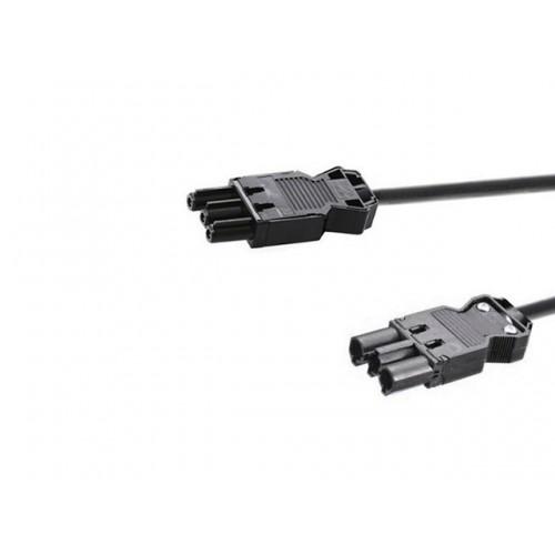 Verbindingskabel 0.3m zwart met GST18® aansluiting