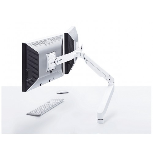 Zoomflex Dual Monitor Wit, M12, 9-21kg, Quick release