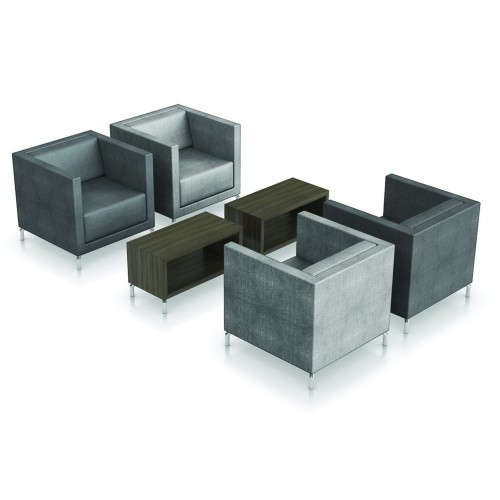 Workways 4x Arm Chair Low + 2x Coffee Box Slim