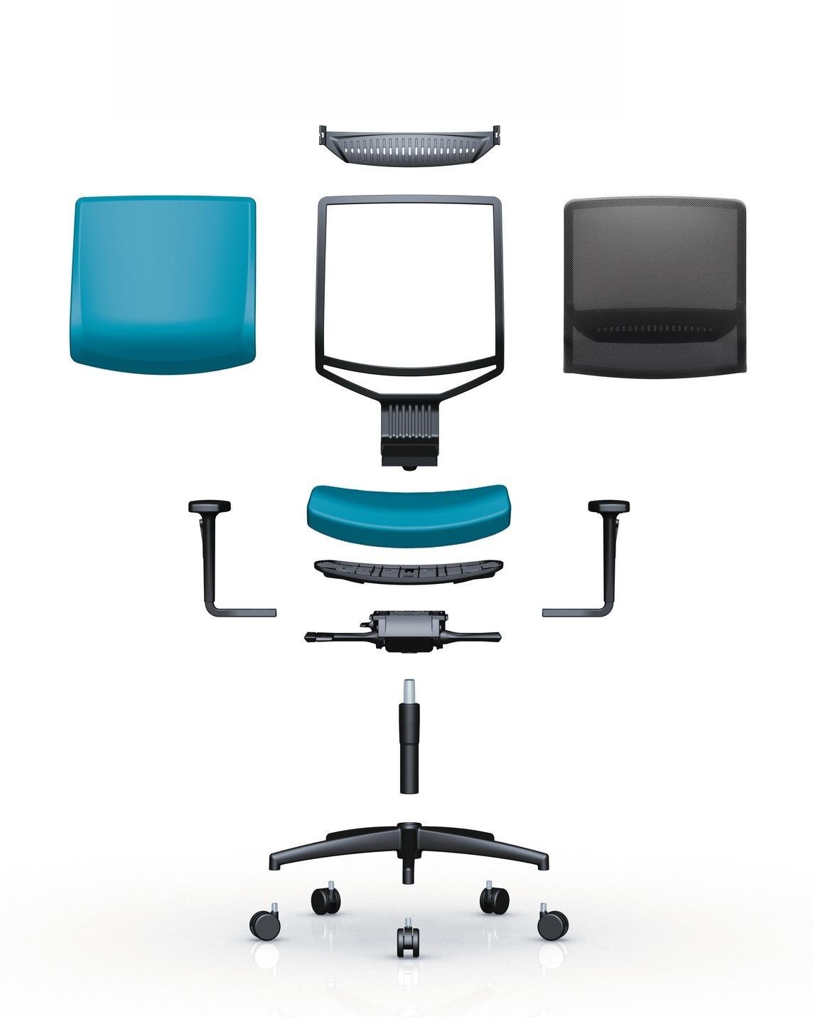 stel uw eigen bureaustoel samen