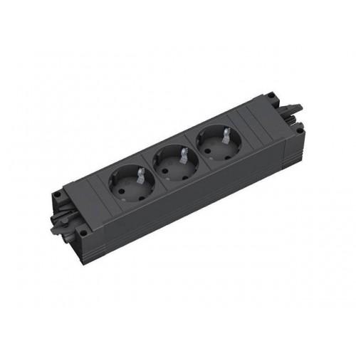 Step contactdoos PPP NL zwart, met GST18® aansluiting