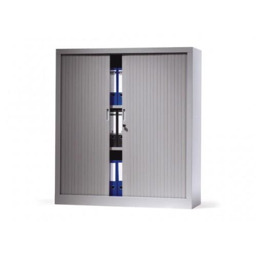 V-store roldeurkast 135x120x42 incl 4 legborden kunststof lamellen