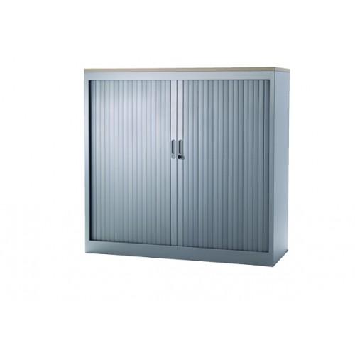Roldeurkast-105x120x45-Zilver RAL9006