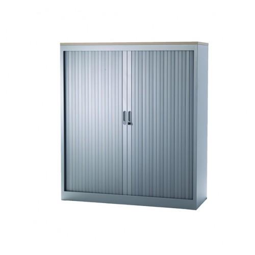 Roldeurkast-135x120x45-Zilver RAL9006