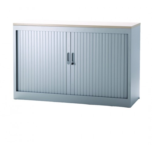 Roldeurkast-75x120x45-Zilver RAL9006