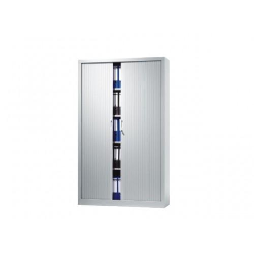 V-store roldeurkast 198x120x42 incl 4 legborden aluminium lamellen
